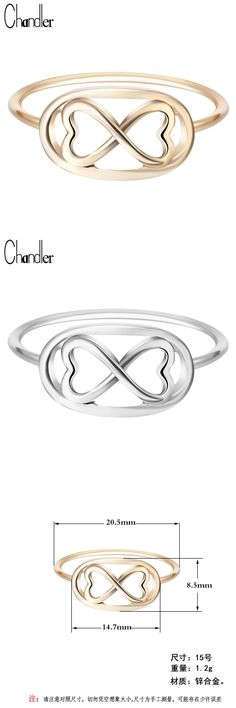 [Visit to Buy] Chandler Sliver  Plated Infinity 8 Eight Knot Rings For Women Eternal Friendship Jewelry Friends Best Gifts Birthday Luxury #Advertisement