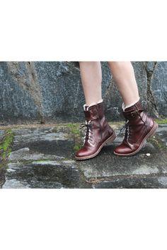 Dark Brown Leather Bata Boots