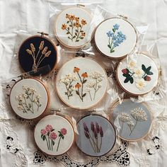 •✧ want to see more pins like this? then follow pinterest: @morgangretaaa  + follow my insta @morgangretaaa ✧• Modern Embroidery, Cute Embroidery, Embroidery Hoops, Floral Embroidery, Embroidery Patterns, Stitch Patterns, Cross Stitch Embroidery, Le Jolie, Cross Stitching