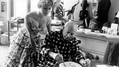 Brigitte Bardot 1956-ban Picasso stúdiójában