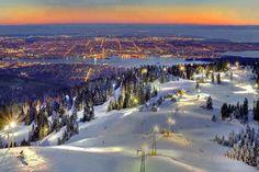 Grouse Mountain ski area. Vancouver, Canada