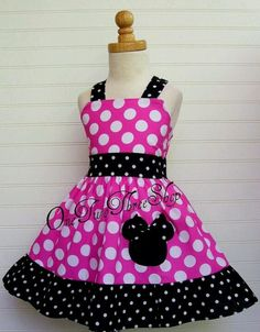 Minnie Mouse dress from onetwothreeshop