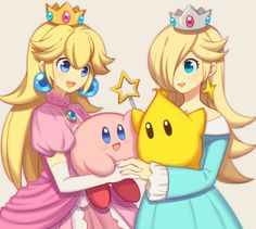 Super Smash Bros -Luna, Kirby, Peach & Rosalina