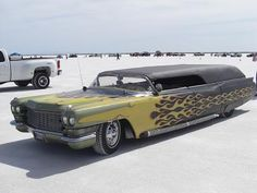 lead sled hearse-the dream vehicle for my business lol :) flames are hot, but would be optional.  these things are not easy to find!  but, I just might :)