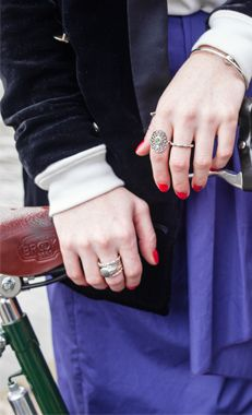 Great stacked styled by fashion writer and stylist Angela Scanlon #PANDORArings