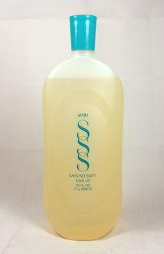 AVON SKIN SO SOFT Bath Oil Original Woodland Fresh Fragrance Large Vintage 24 Oz Bottle Excellent skin oil - moisturizing and acts as an insect repellent when directly applied to the skin GREAT FOR SUMMER!