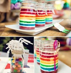 137 Creative Things You Didn't Know You Could Do With Mason Jars. You can create some amazing deserts in mason jars. The transparent glass lets you make colorful layers.