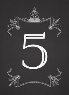 Gatsby Glamour Table Numbers - Hoopla House