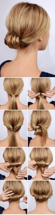 "Best Hairstyles for Summer - Low Rolled Updo Hair Tutorial - Easy and Cute Hair ., Easy hairstyles, "" Best Hairstyles for Summer - Low Rolled Updo Hair Tutorial - Easy and Cute Hair . - Source by Low Rolled Updo, Twisted Bun, Low Updo, Rolled Hair, New Hair, Your Hair, Updo Tutorial, Headband Tutorial, Hair Tutorials"