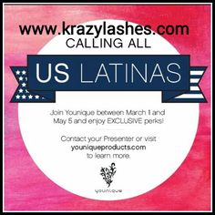If you speak Spanish and want to talk about being a Younique Presenter. I would love to speak with you.