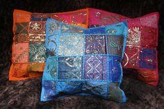 Patchwork Kisenbezug Kissenhülle vintage Sari Indien 40 x 40 ethno Dekokissen | eBay Indian Tapestry, Vera Bradley Backpack, Vintage, Ebay, Scrappy Quilts, Indian, Vintage Comics