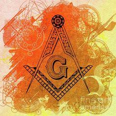 Painting - Freemason, Mason, Masonic Symbolism by Esoterica Art Agency , Freemason Symbol, Masonic Art, Hidden Places, Secret Code, Freemasonry, Illuminati, Occult, Mystery, Symbols