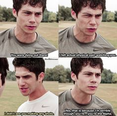 Teen Wolf Quotes, Teen Wolf Funny, Teen Wolf Dylan, Dylan O'brien, The Cw Shows, Tv Shows, Teen Wolf Ships, Wolf Stuff, Physical Pain
