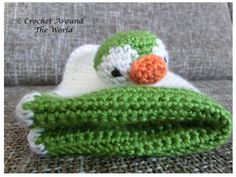 A Pengu Lovey Blanket for Babies - free pattern!