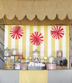 Set up a fun candy bar at your reception for guests to mingle around and snack.