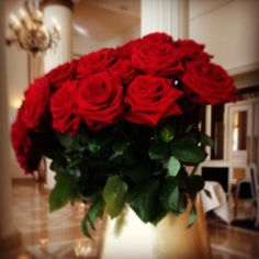Roses in the lobby Photo by halb
