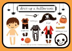 I saw these ADORABLE Babalisme Halloween printables on Living Locurto & had to share! These Halloween dress up dolls are too cute which. Holidays Halloween, Halloween Crafts, Halloween Decorations, Halloween Party, Halloween Printable, Halloween Dress, Halloween Tricks, Halloween Costumes, Halloween Clothes