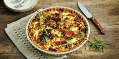 Valmista Kinkku-kasvispiirakka tällä reseptillä. Helposti parasta! Joko, Vegetable Pizza, Vegetables, Tarts, Red Peppers, Mince Pies, Pies, Vegetable Recipes, Tart