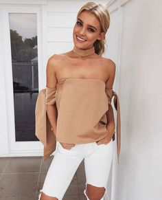 WEBSTA @ mura_boutique - We have an obsession with this silk choker top... Dancer topLone jeansShop NEW --> www.muraboutique.com.au#muraboutique