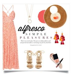 """""""Alfresco: Simple Pleasures"""" by lovekhrys on Polyvore featuring NARS Cosmetics, Rebecca Taylor, Schutz, Sophie Anderson and Kate Spade"""
