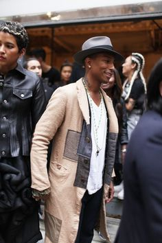Pharrell Williams in a Junya Watanabe AW/13 coat.