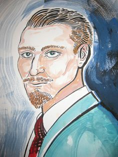 Potrait of composer Charles Jessold by Ed Kluz