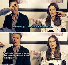 Don't mess with Keira <-- Don't mess with Benedict when it comes to Keira!