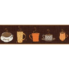 You'll love the Bistro 750 0.56' x 1.5'' Coffee Mug Border Wallpaper at Wayfair - Great Deals on all Décor products with Free Shipping on most stuff, even the big stuff.