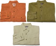 The Territory Ahead LOT OF 3 L Long Sleeve Button Front Multi-Color Men's Shirts #TheTerritoryAhead #ButtonFront