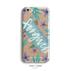 H139-FORGIVEN in BLOOM - Freehand - TPU CLEAR CASE – Prone to Wander