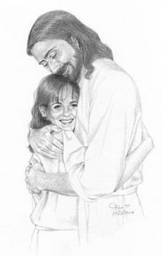 Drawing of jesus google search sunday school lessons pinterest jesus hugs a young girl this picture looks exactly like my daughter who died from leukrmia i know this is how jesus greeted her in heaven altavistaventures Gallery
