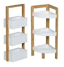3 Tier Bambus Floor Standing Bathroom Shower Caddy Rack Storage Organiser  Tidy