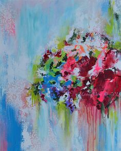 Secret Garden Original Abstract Floral Painting on by lanasfineart, $205.00