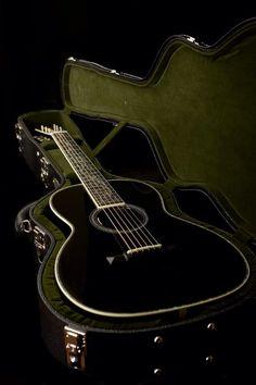 Collings Black Acoustic Guitar