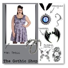 """Kari Dress"" by thegothicshop ❤ liked on Polyvore featuring women's clothing, women, female, woman, misses and juniors"