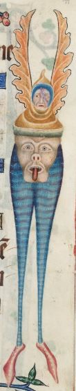 Detail from The Luttrell Psalter, British Library Add MS 42130 (medieval manuscript,1325-1340), f199r