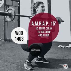 #wod #crossfitvoiron #voiron #crossfit #amrap #squatcleans #boxjumps #running #training