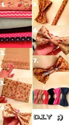 If you love hair accessories but hate the high prices in-store, try making your own bows with fabric of your choice!