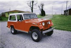 Jeep Jeepster! I saw one cherried out like this in St. George once, in the Home Depot Parking lot. I'm not sure how many times I went over every detail, but I'm pretty sure people were beginning to stare at me.