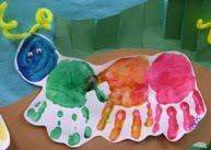 Cute project to make while reading Hungary Little Catepillar (idea from childcare blog)
