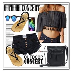 """""""Outdoor Summer Concert"""" by paculi ❤ liked on Polyvore featuring Arche, Illesteva, nastydress and outdorconcert"""