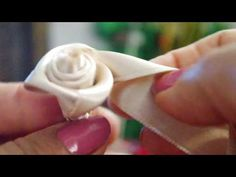 come fare una rosa con nastro di raso - YouTube