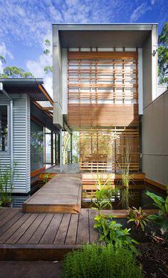 nice...   concrete | gal. metal | wood detail | ipe deck | water feature