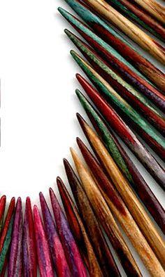 prachtige breinaalden van Dyakcraft. (knitting needles)