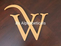 Wooden Initials Monogram Baby Name Wall Decor by Alphabeticals, $25.00