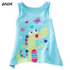 Boys T-shirts Children Tops Singlets Retail kids Vest Girls Summer Outfits, Toddler Girl Outfits, Kids Outfits, Baby Outfits, Fashion Kids, Buy T Shirts Online, Kids Vest, Polo Outfit, Summer Shirts