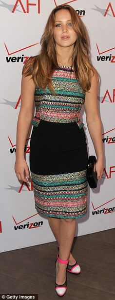 Jennifer Lawrence in Prabal Gurung at the American Film Institute Awards