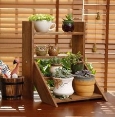 Grab some space and plant your indoor garden! Our Wooden Plant Ladder transforms any space into a lush, green art gallery. Garden Rack, Gnome Garden, Garden Boxes, Indoor Flower Pots, Indoor Plants, Potted Flowers, Plant Ladder, Plant Table, Home Vegetable Garden