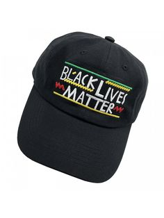 Black Lives Matter Dad hats Baseball Cap Embroidered Adjustable Snapback  Unisex - Black - CQ187EXEIAL 40e54d556079