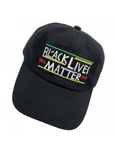 b5d7f4668ef Black Lives Matter Dad hats Baseball Cap Embroidered Adjustable Snapback  Unisex - Black - CQ187EXEIAL